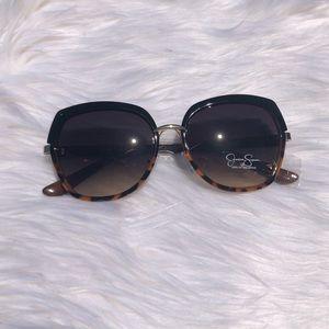 Black & Tortoise Shell Round Sunglasses